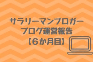 【6か月目】サラリーマンブロガーの雑記ブログ運営報告
